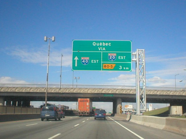 Autoroute 40, close to exit 80-S in Montréal.